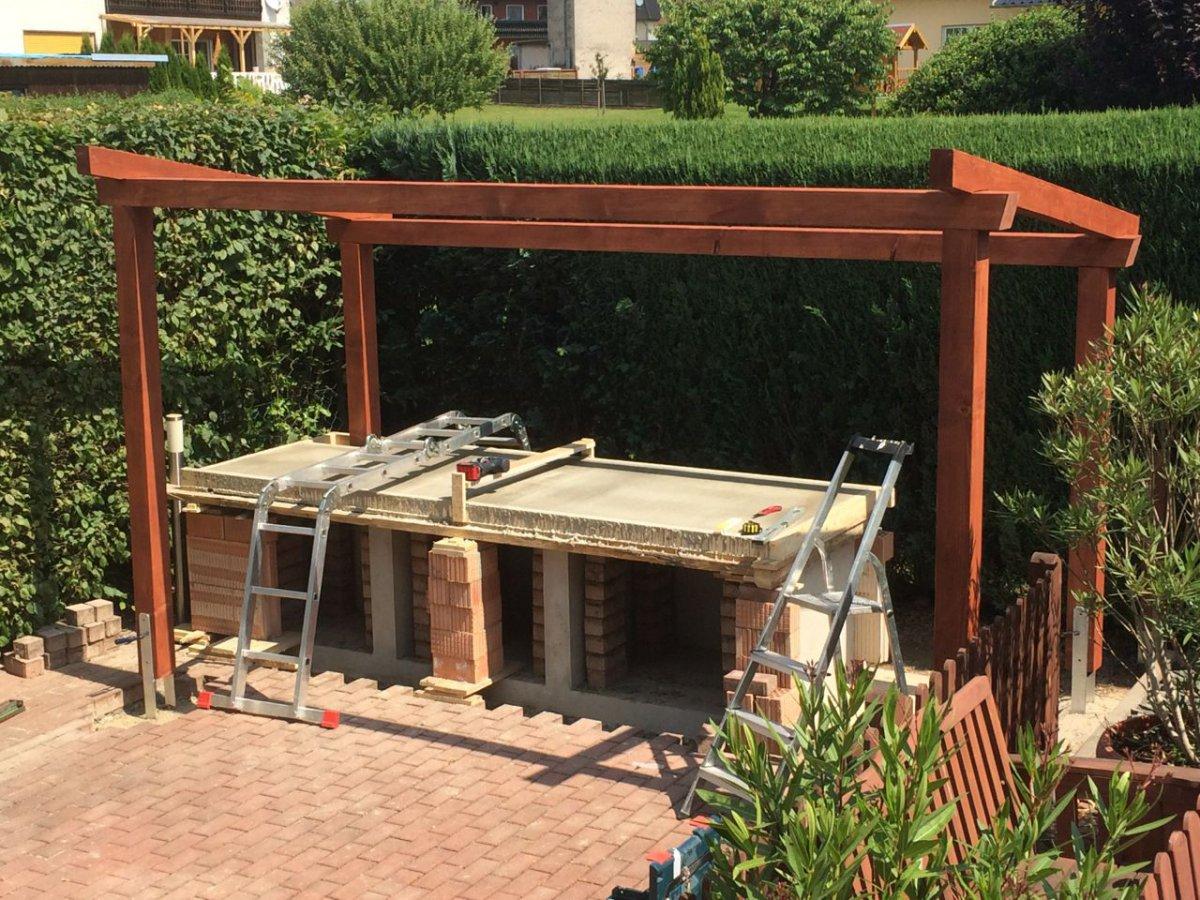 Outdoor Küche Dach : Outdoor küche dach: rustikaler marktstand mit dach handgefertigt aus