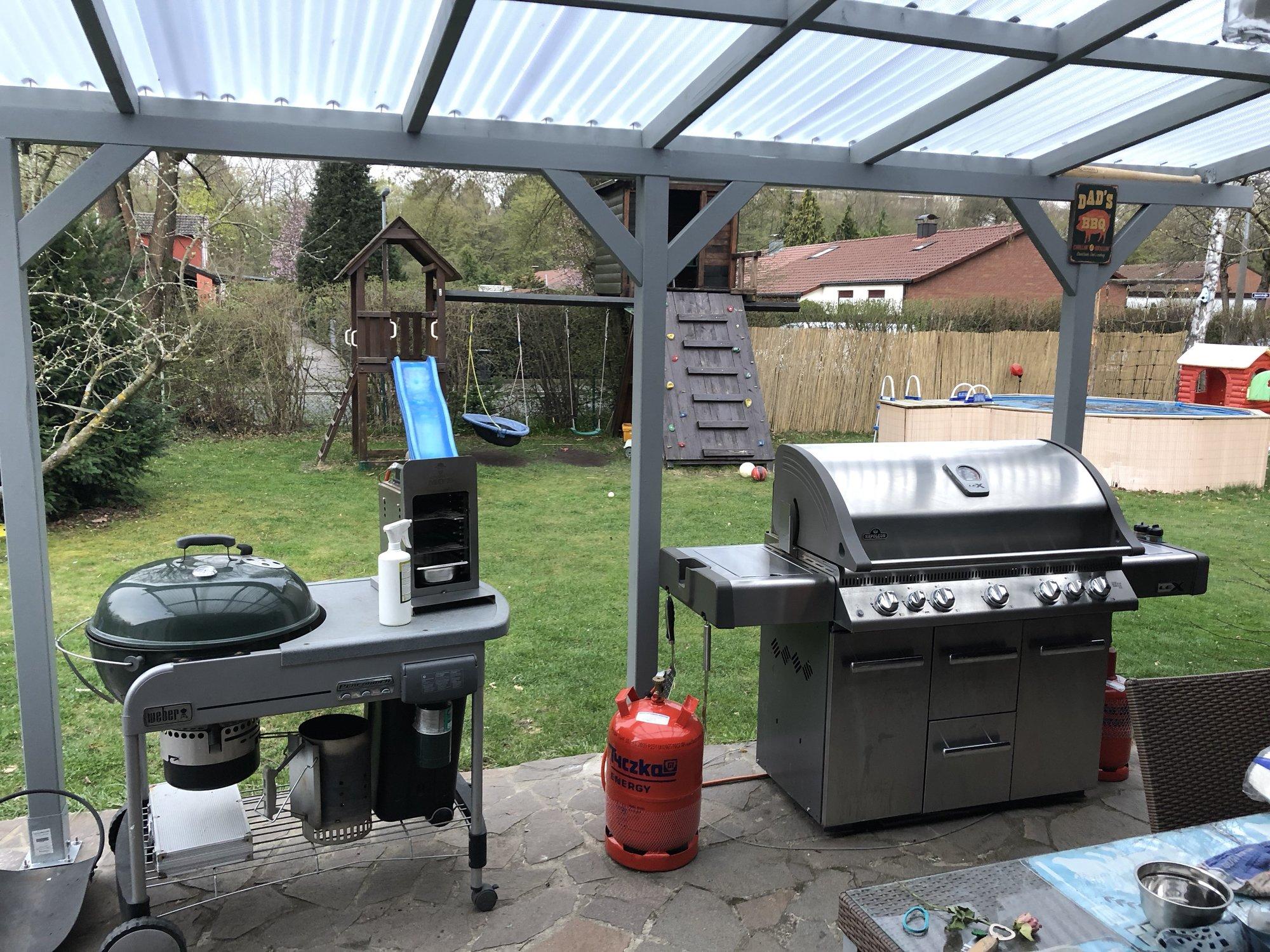 Weber Outdoor Küche Xxl : Grillstandüberdachung und dann outdoorküche viele bilder