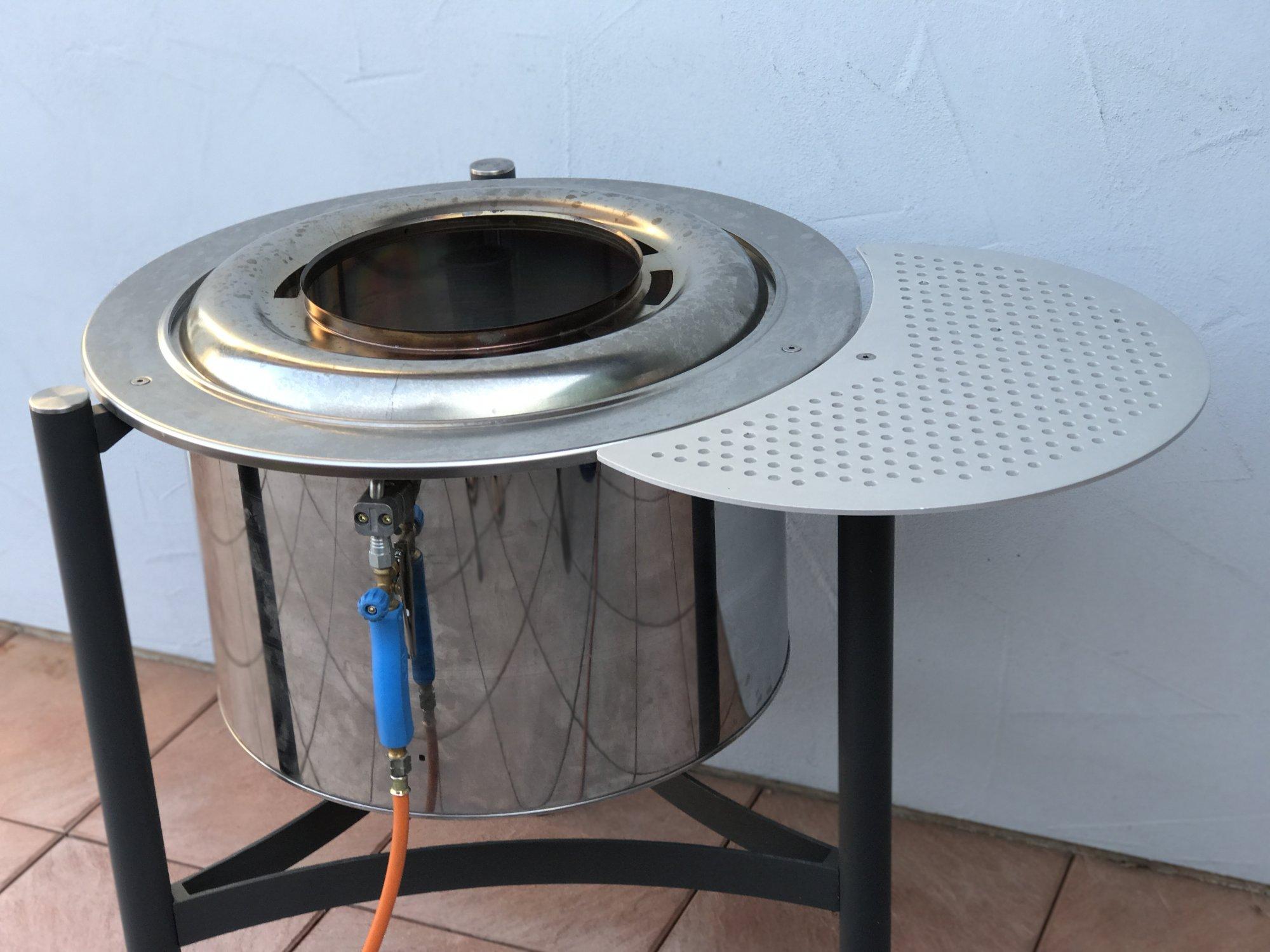 Eigenbau wokbrenner modell trocknertrommel dachpappenbrenner