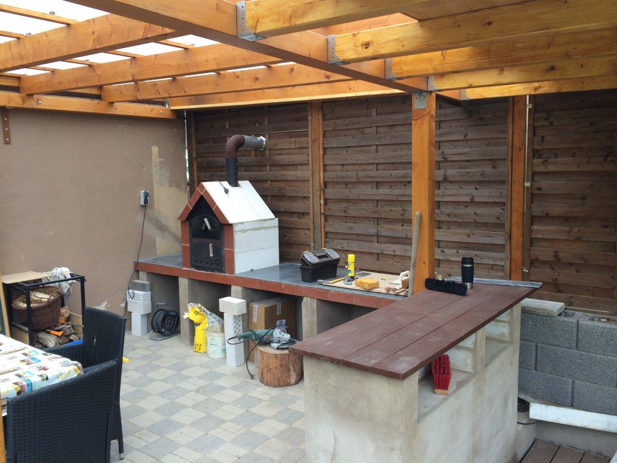 Bau spanferkel grillkamin grillforum und bbq www for Arbeitsplatte unterbau