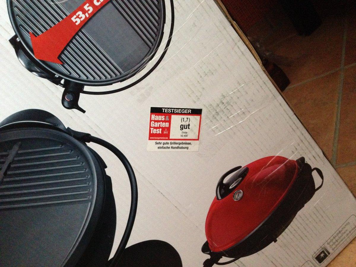 elektrogrill steba vg 400 tisch und stand grill grillforum und bbq. Black Bedroom Furniture Sets. Home Design Ideas