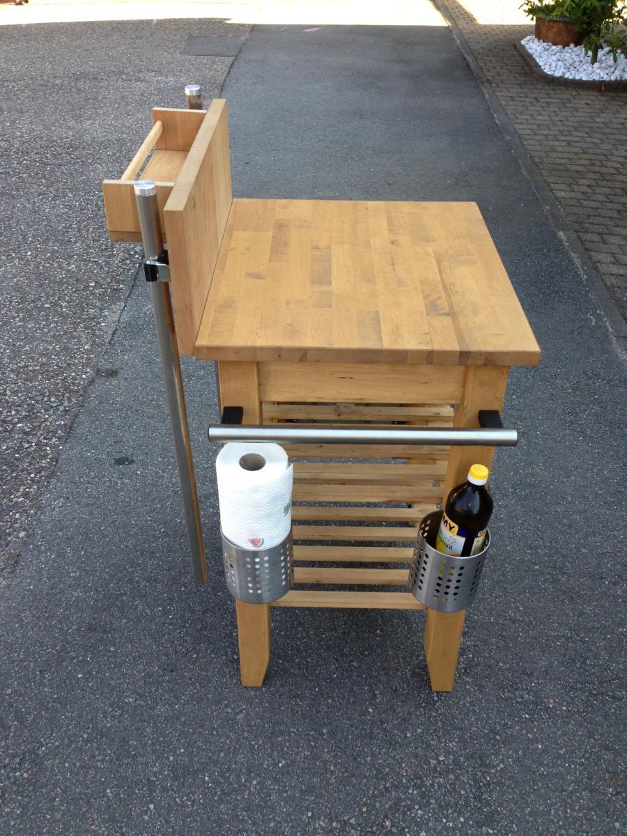 keter grill beistelltisch 2 t rig graphit 54 123 7 90. Black Bedroom Furniture Sets. Home Design Ideas