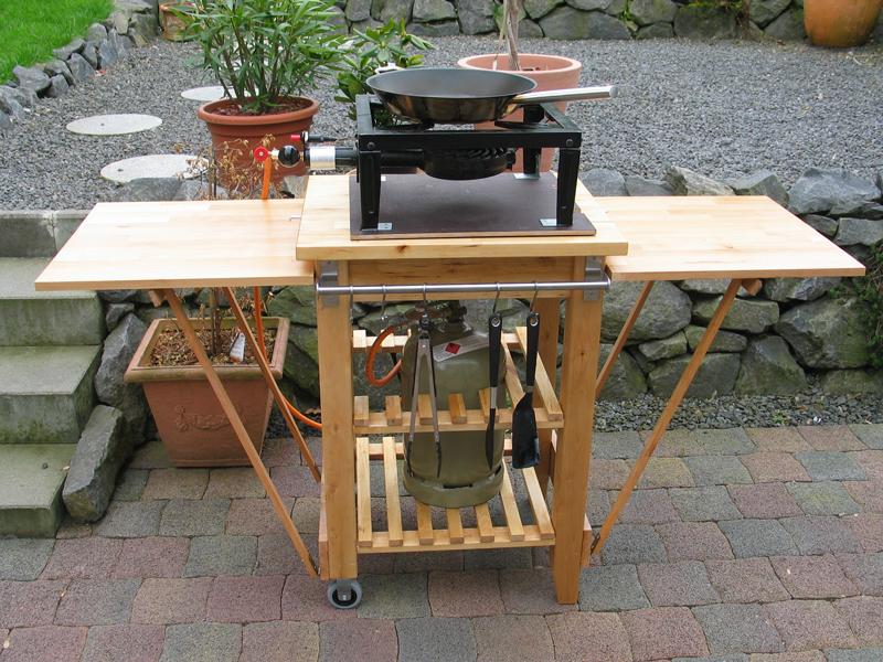 ikea serviertisch f r hockerkocher umgebaut grillforum und bbq. Black Bedroom Furniture Sets. Home Design Ideas