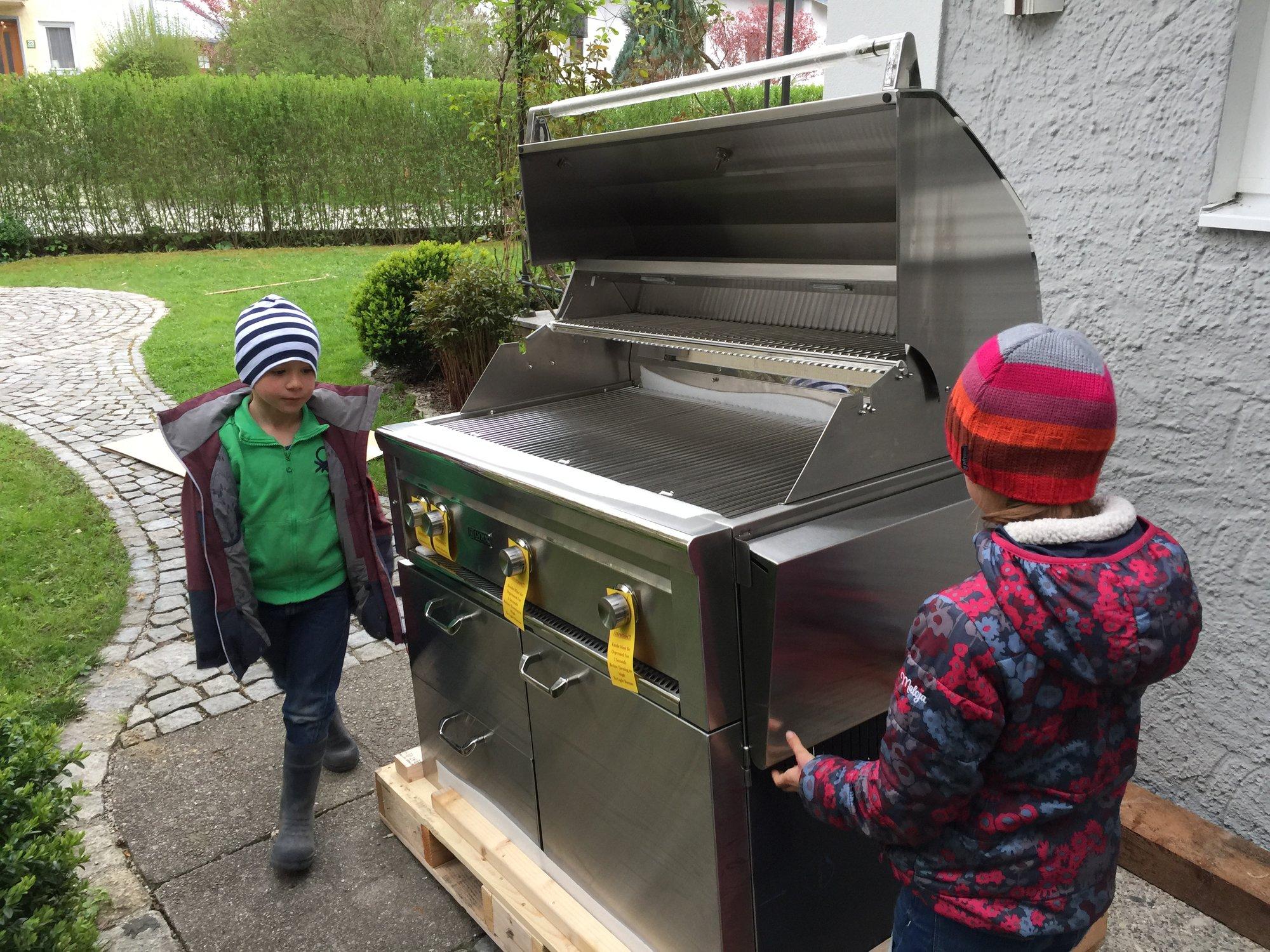 Außenküche Mit Xl : Wwoo außenküche mit grill beton module regale ablagefläche garda