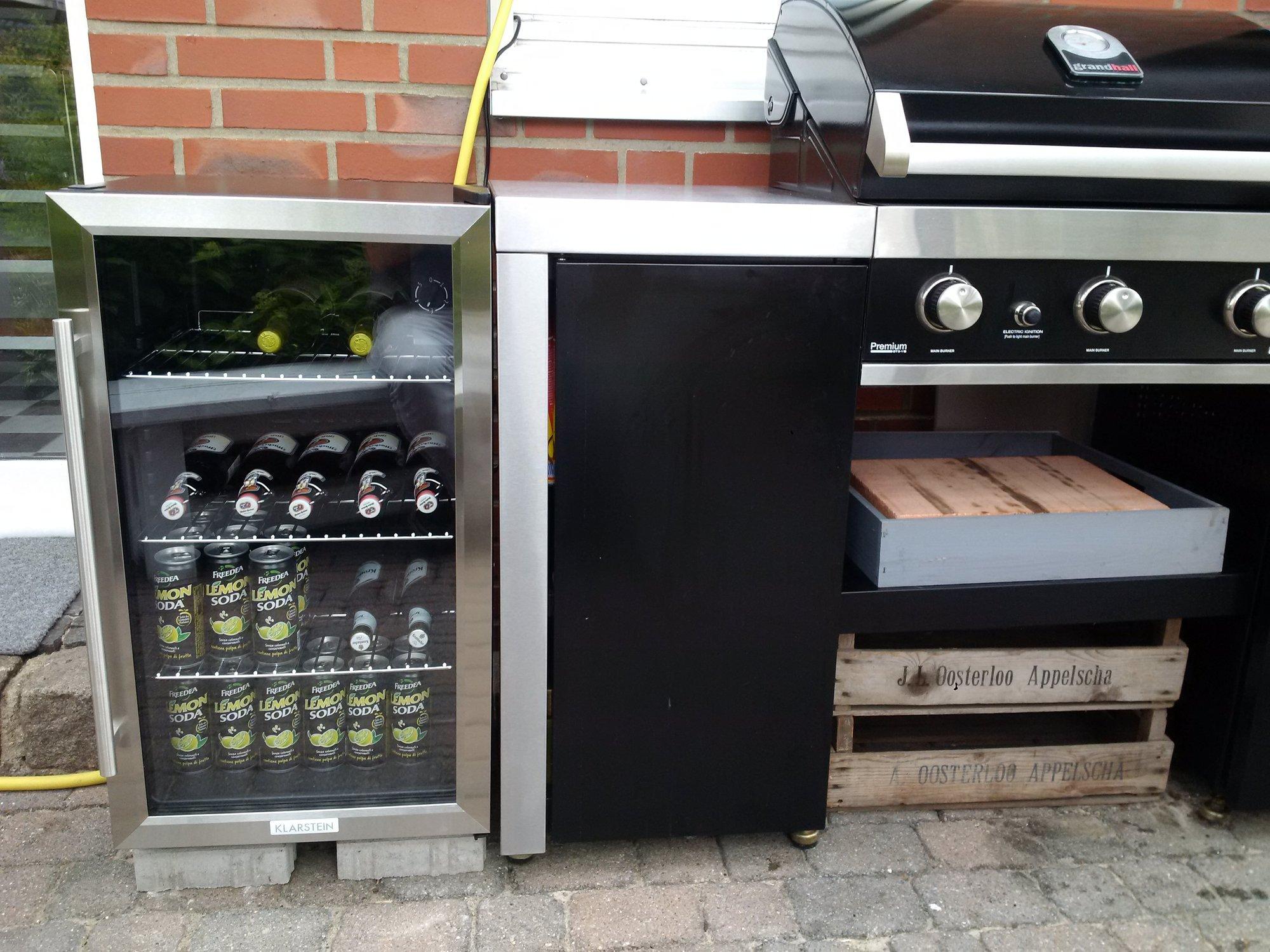 Outdoorküche Mit Kühlschrank Vergleich : Welchen kühlschrank in die outdoorküche grillforum und bbq