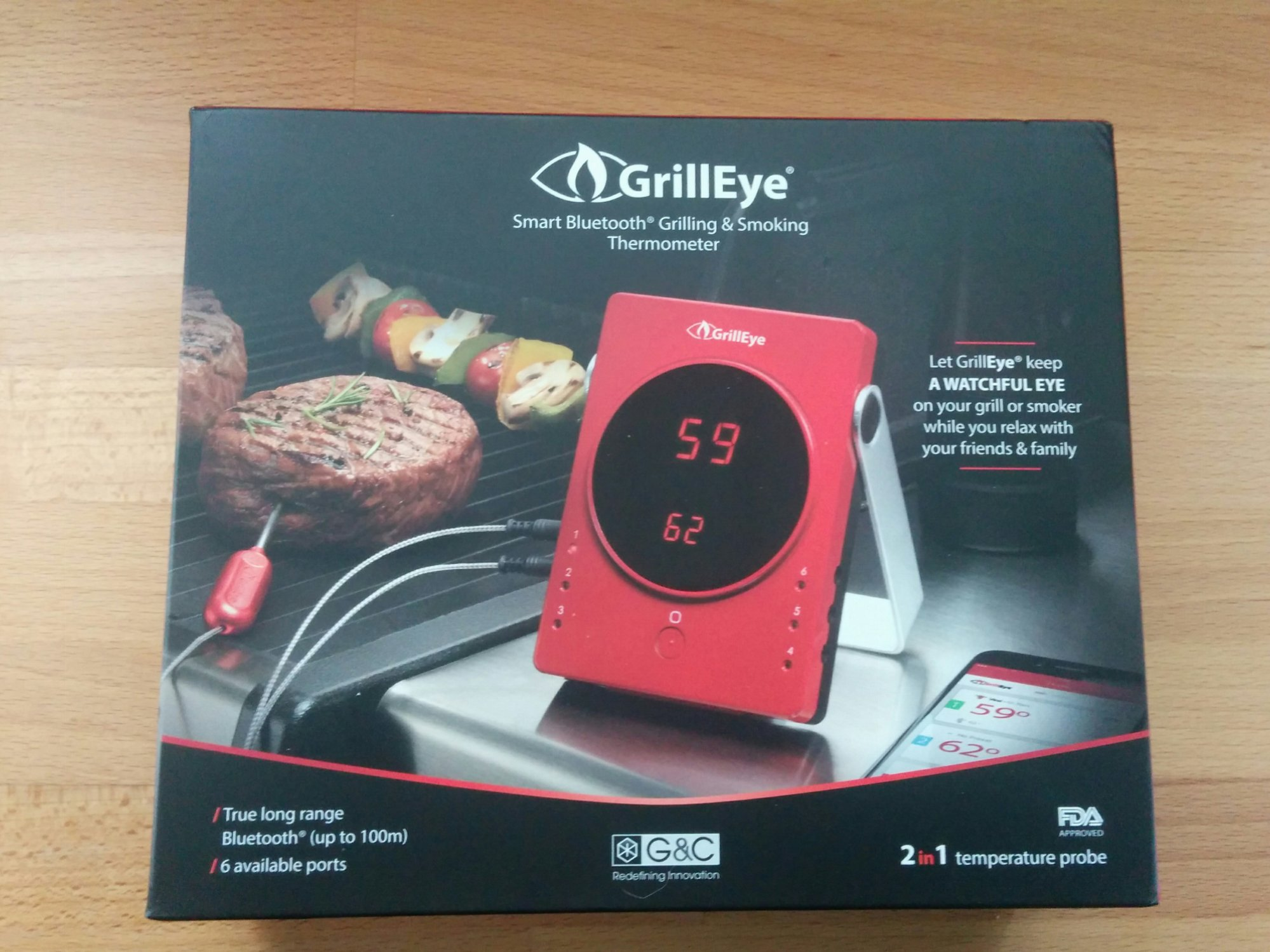 test grilleye bluetooth bbq thermometer grillforum und bbq. Black Bedroom Furniture Sets. Home Design Ideas