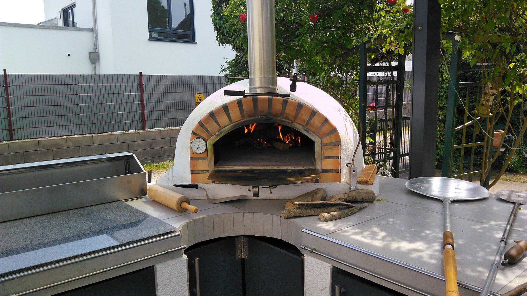 Outdoor Küche Pizza Ofen : Heute pizza aus dem pizzaofen der outdoorküche grillforum und