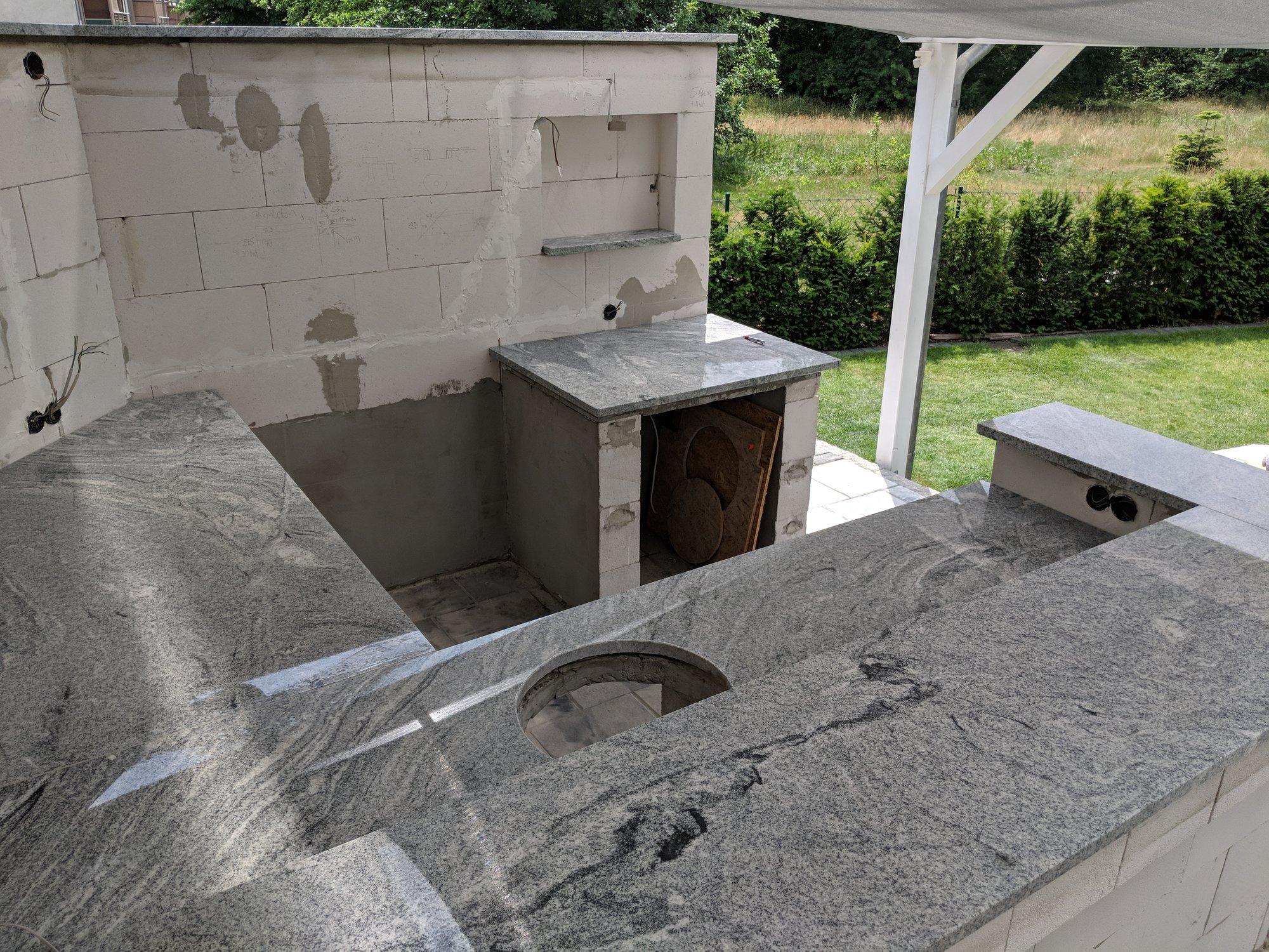 Outdoorküche Arbeitsplatte Küche : Outdoor küche mit beton arbeitsplatten gunook