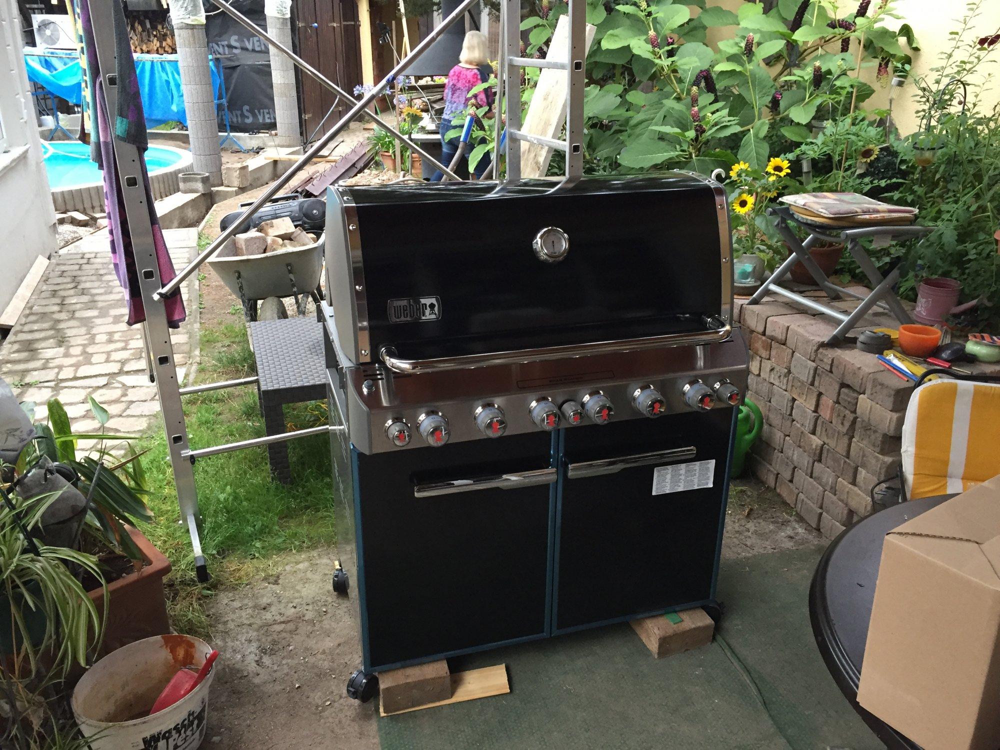 Außenküche Mit Backofen : Gartenneugestaltung mit außenküche seite grillforum und bbq