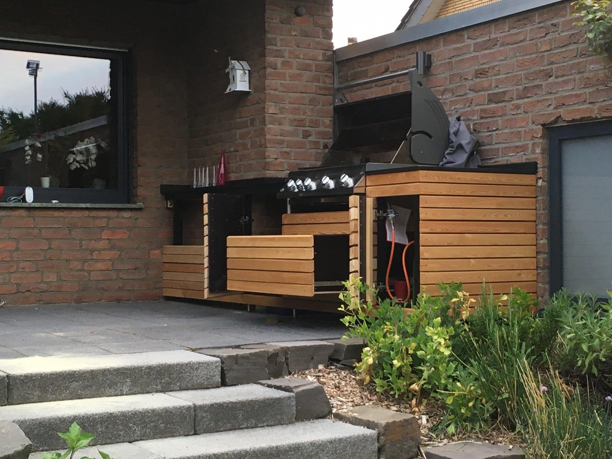 Outdoor Küche Kugelgrill : Hängende outdoor küche grillforum und bbq grillsportverein