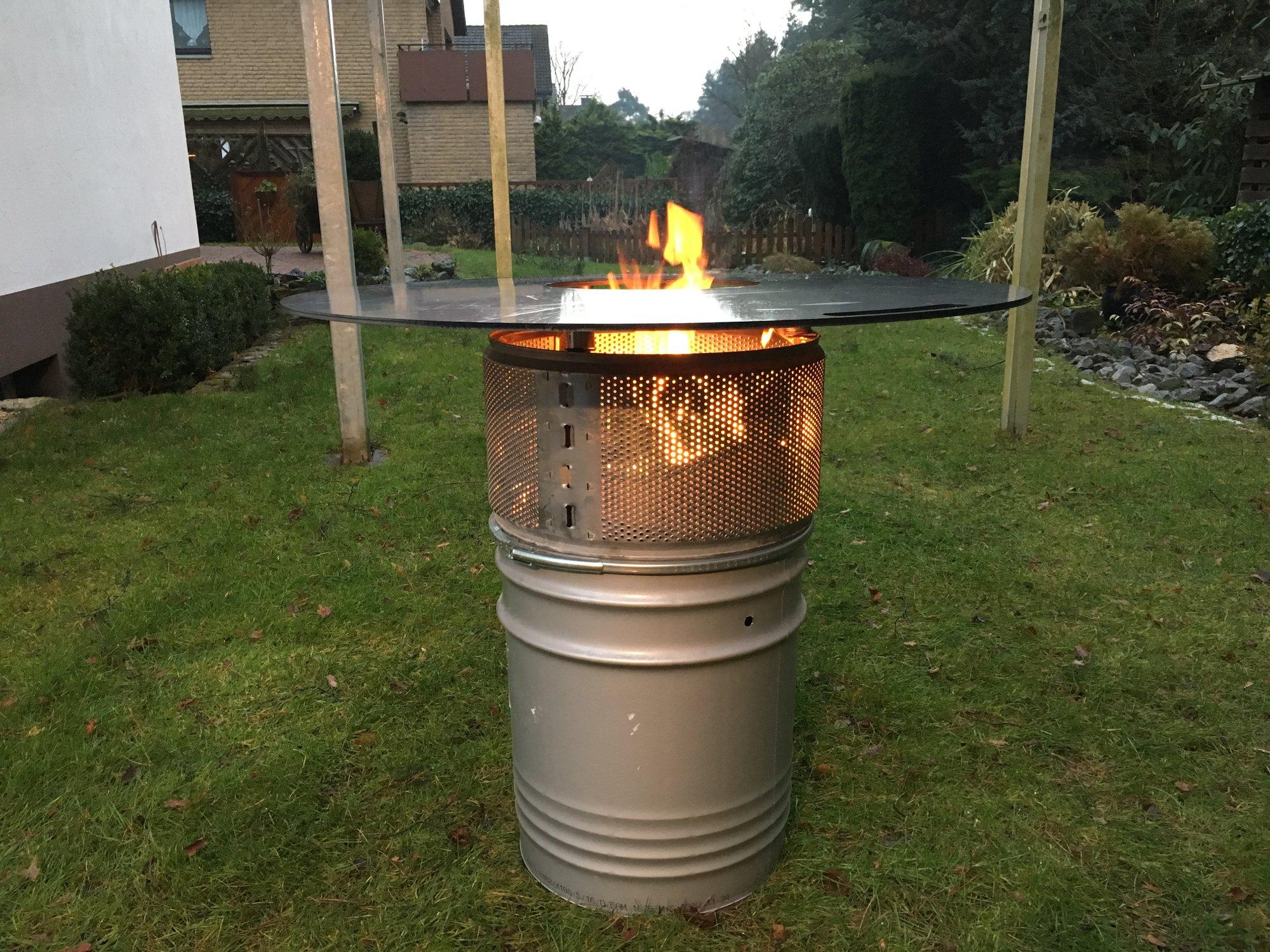 Ich Bau Mir Jetzt Auch Eine Feuerplatte Habe Fertig Grillforum Und Bbq Www Grillsportverein De