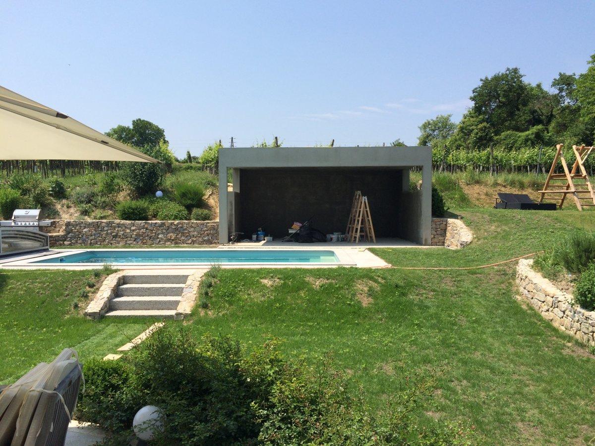 Poolhaus pooldach und grillecke seite 3 grillforum und bbq - Pooldach selber bauen ...