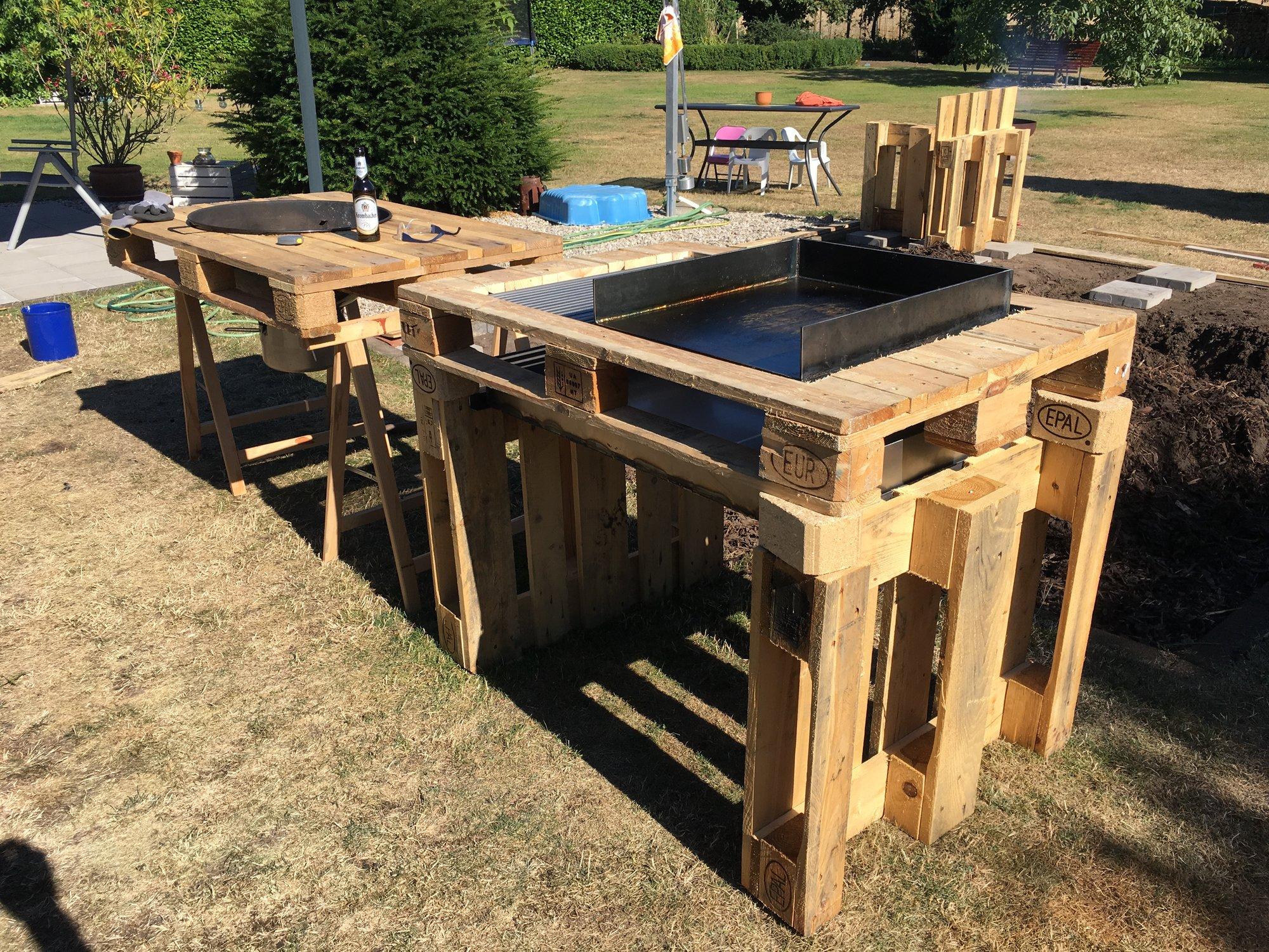 Außenküche Mit Paletten : Gartenmöbel aus paletten schöne ideen zum selberbauen