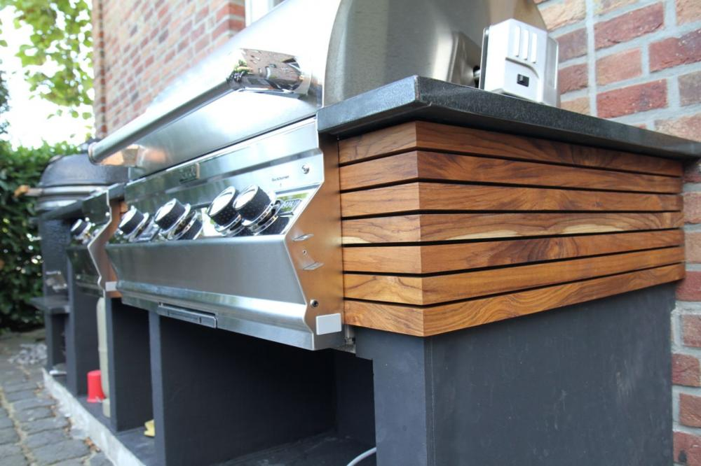 Außenküche Mit Gasgrill : Bauholz außenküche mit grill inklusive grandhall gasgrill