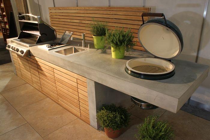 Outdoor Küche Mit Spüle : Outdoor küchenzeile in betonoptik mit zwei gasgrills und kleiner