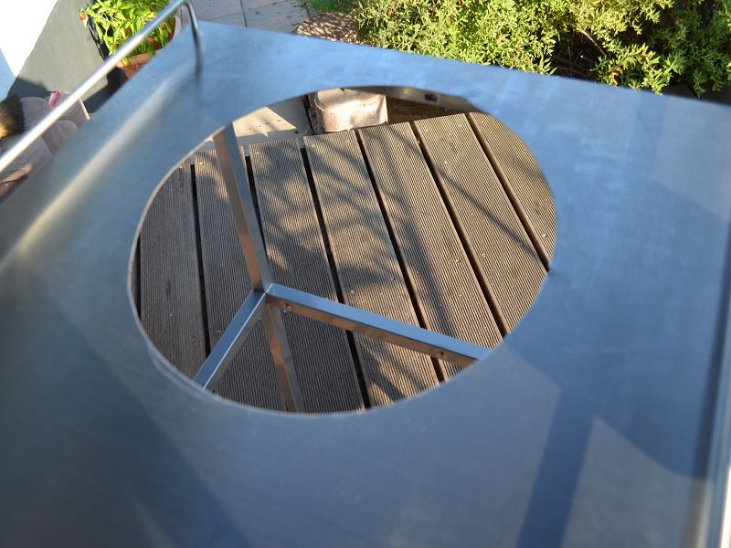 es ist vollbracht das loch ist drin grillforum und bbq. Black Bedroom Furniture Sets. Home Design Ideas
