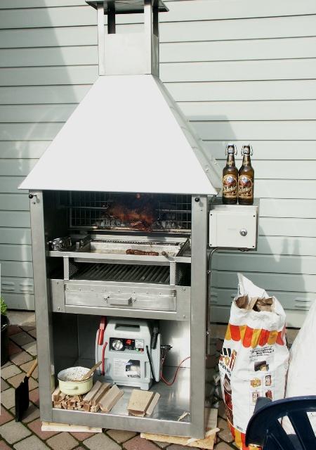 edelstahl kamin grill in85 hitoiro. Black Bedroom Furniture Sets. Home Design Ideas