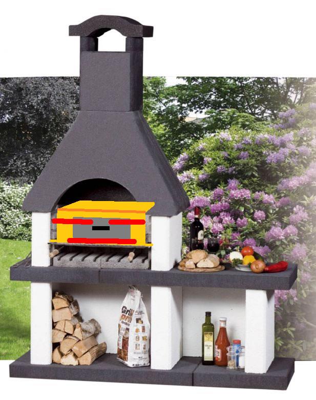 pizzaofen als einsatz f r den grillkamin grillforum und bbq. Black Bedroom Furniture Sets. Home Design Ideas