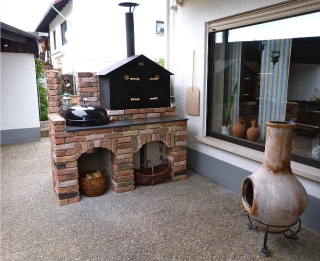 Outdoorküche Mit Holzbackofen : Bauprojekt holzbackofen mit webergrill fertig grillforum