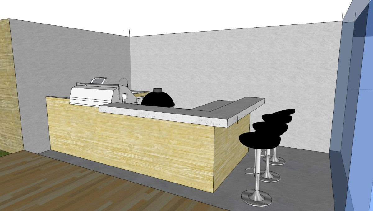 Planung Haus mit integrierter Außen-Küche | Grillforum und BBQ - www ...