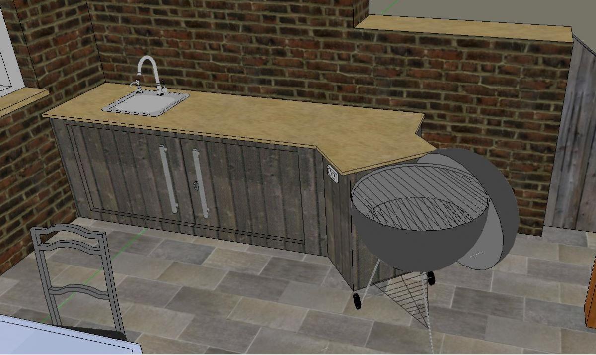 Outdoorküche Arbeitsplatte Küche : Outdoor küche design mit holz bcaksplash und marmor arbeitsplatte