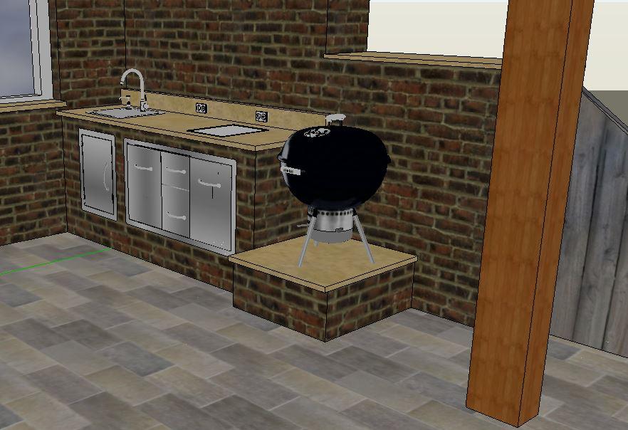 Outdoorküche Mit Spüle Lösen : Outdoorküche projekt  grillforum und bbq