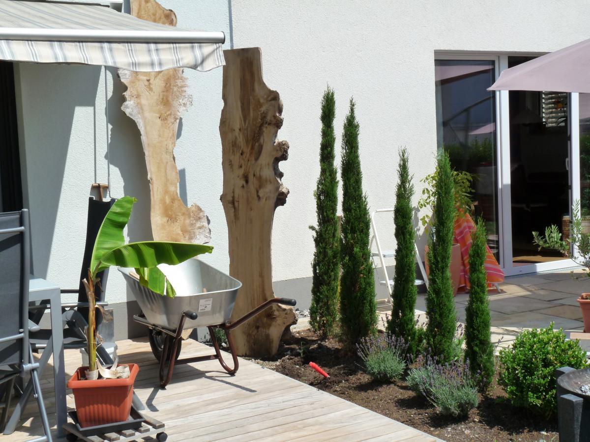 Projekt Sichtschutz zwischen 2 Terrassen