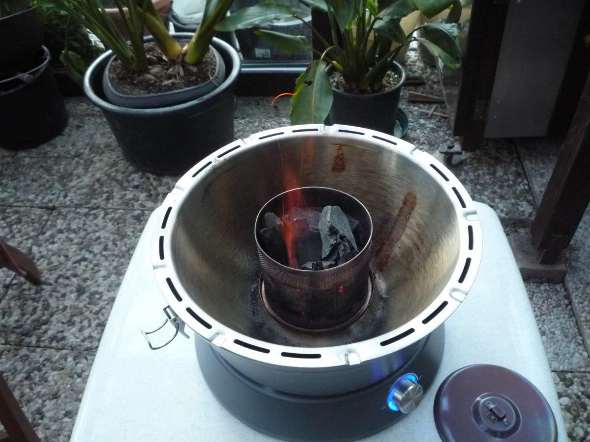 Aldi Holzkohlegrill Mit Lüfter : Super aldi grill und flachbratpfanne im test grillforum und bbq