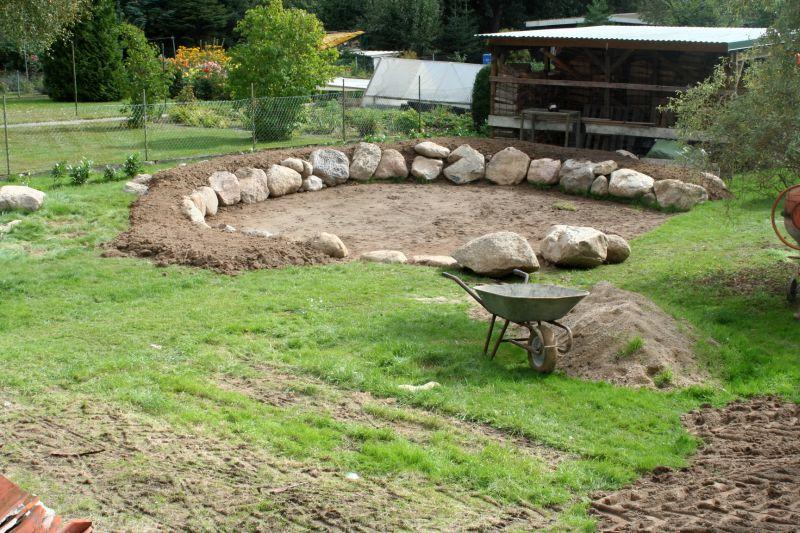 Eigenbau gemauerter holzbackofen seite 16 grillforum - Pool untergrund begradigen ...