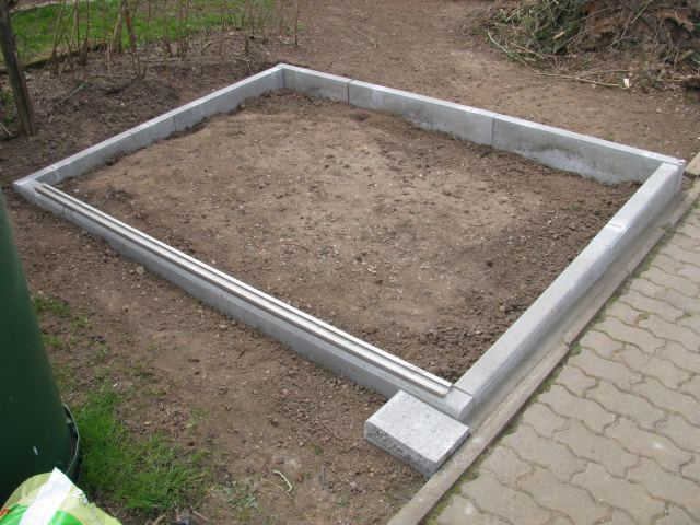 fundament f r gartenhaus ohne beton my blog. Black Bedroom Furniture Sets. Home Design Ideas