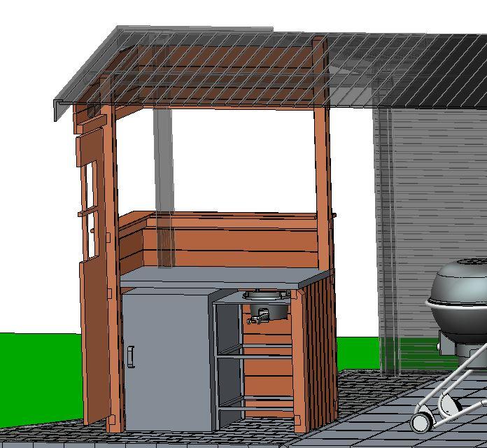 anbau aussenk che an die gartenh tte 2017 grillforum und bbq. Black Bedroom Furniture Sets. Home Design Ideas