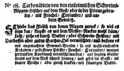Schweinerne Carbonaden, Hagger, 1719.jpg