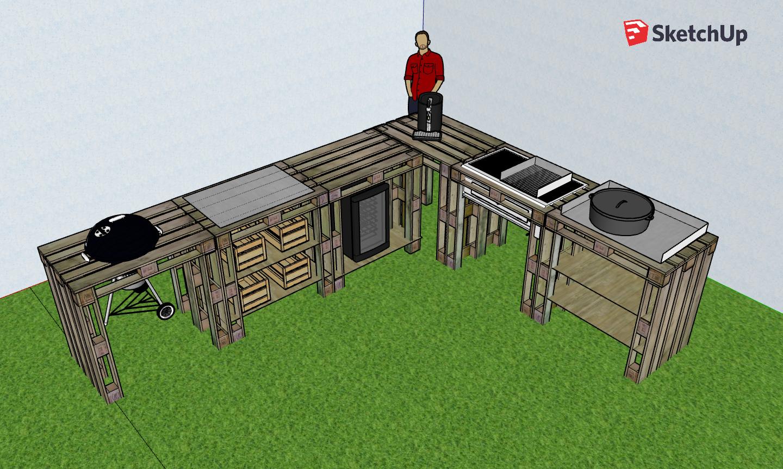 Außenküche Mit Paletten : Aussenküche aus paletten projekt frühjahr grillforum und