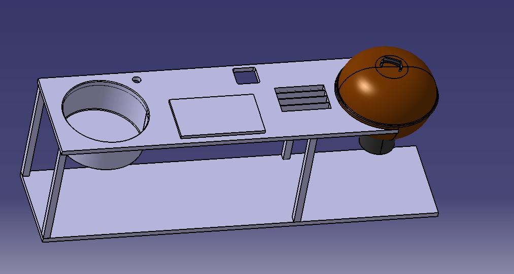 konzept tisch f r weber gbs grillforum und bbq. Black Bedroom Furniture Sets. Home Design Ideas
