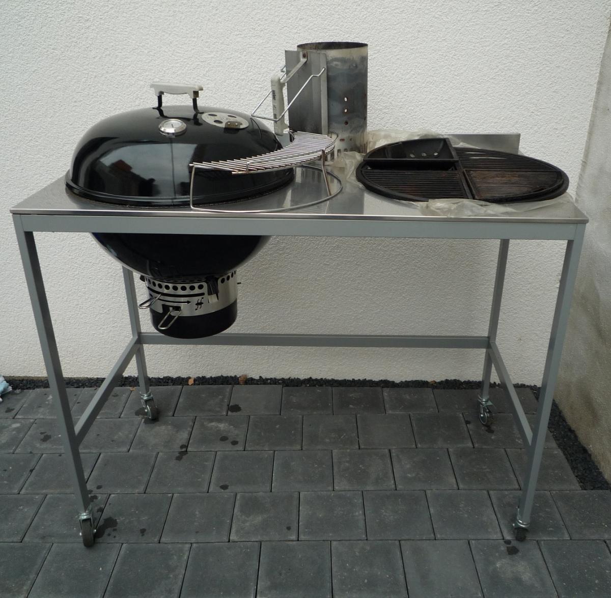 zu verkaufen weber one touch premium 57 umbau inklusive umfangreichen zubeh rpaket grillforum. Black Bedroom Furniture Sets. Home Design Ideas