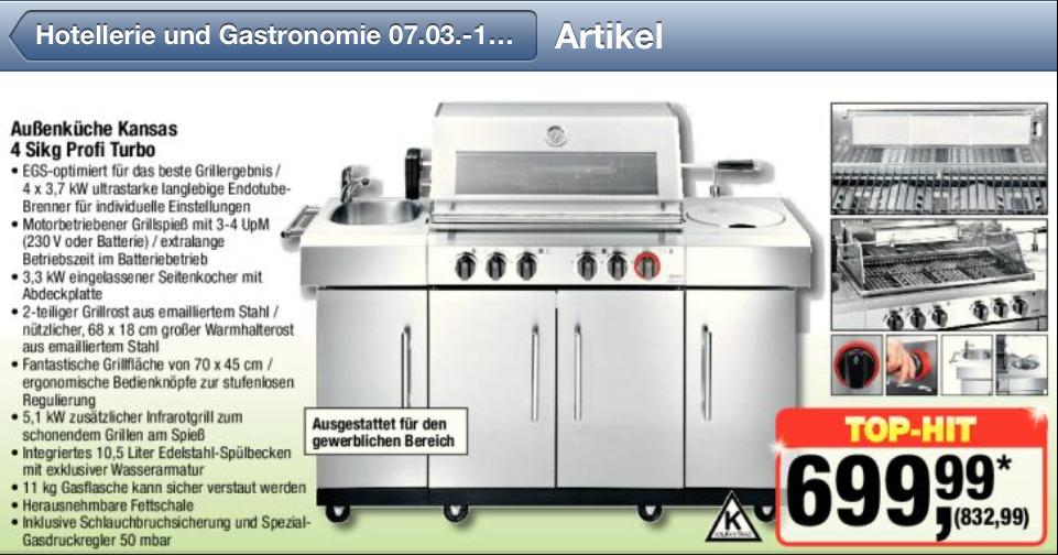 Gasgrill Außenküche bei Metro (7.3.2013) | Grillforum und BBQ - www ...