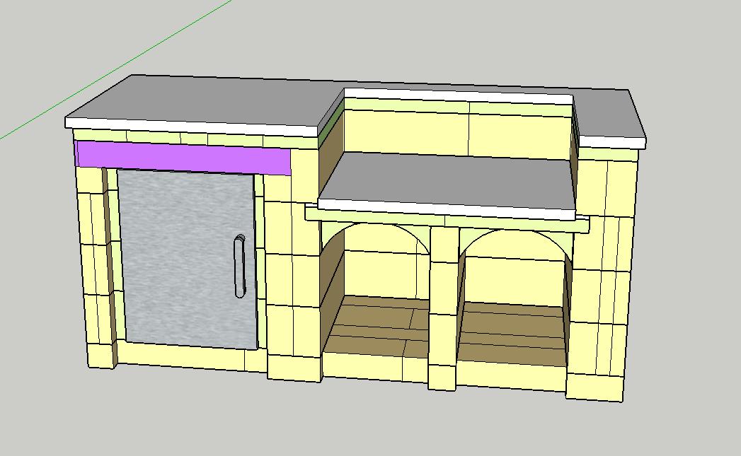 Amateur braucht Hilfe beim Plan einer kleinen Außenküche ...