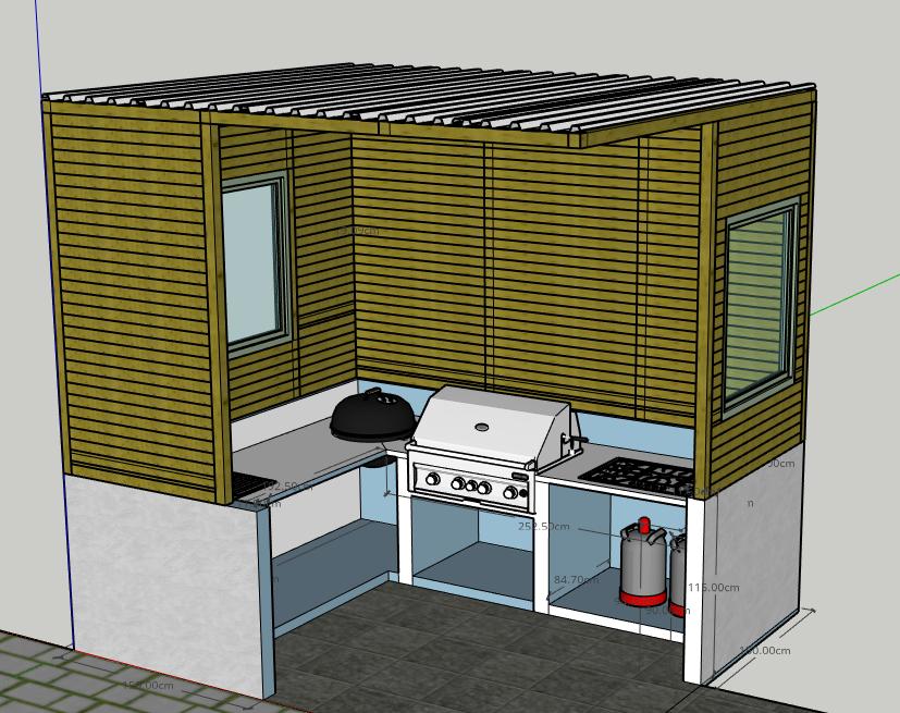 Kochfeld Für Außenküche : Planung außenküche m m überdacht grillforum und bbq