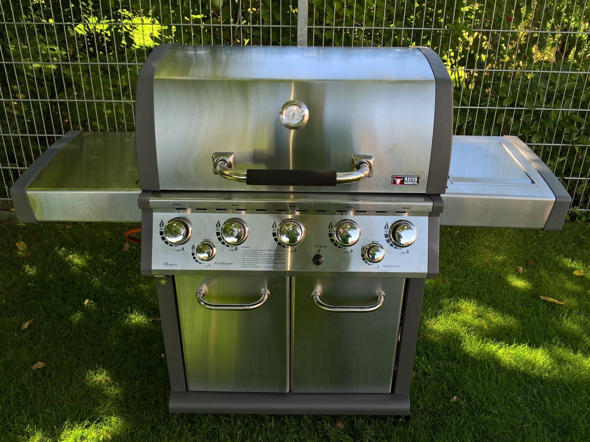 Test Gasgrill Mit Seitenbrenner : Test: mayer barbecue zunda 1502 s master gasgrill mit 5 brennern