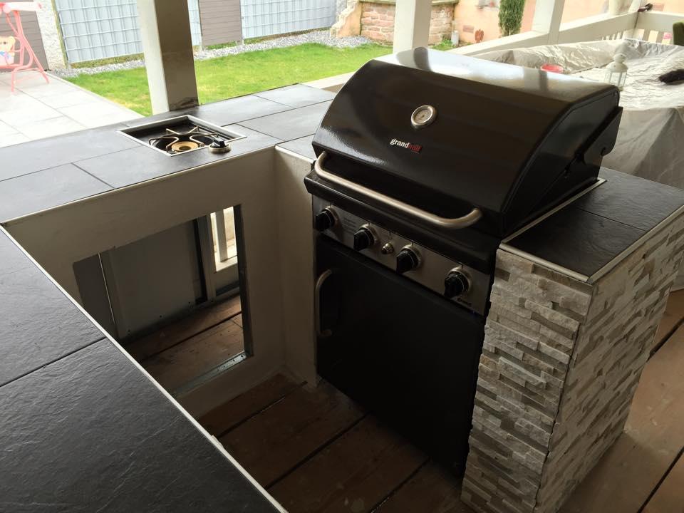 Platte Für Außenküche : Bau meiner grill und bbq außenküche gartenküche teil