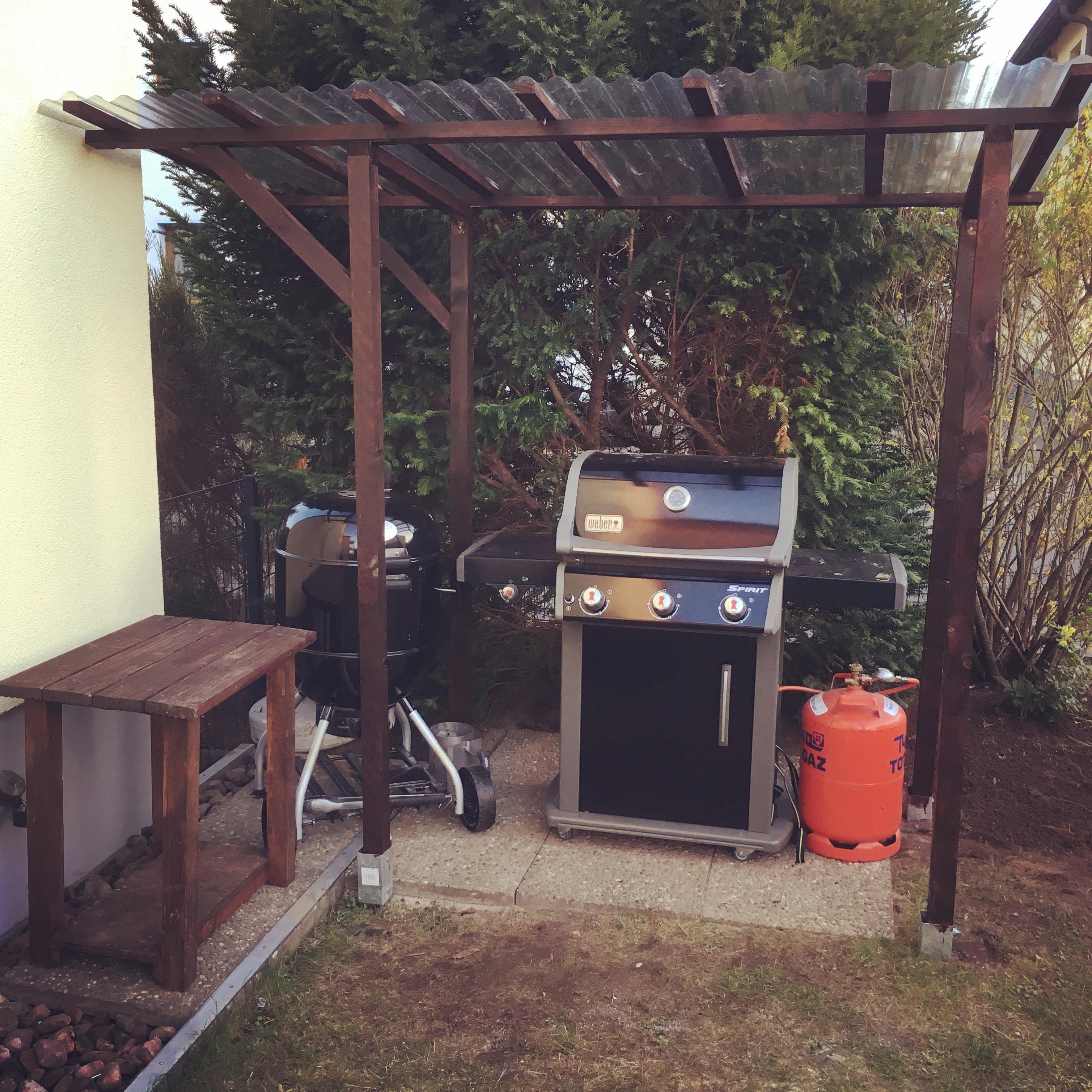 kleiner und einfacher grillunterstand | grillforum und bbq - www