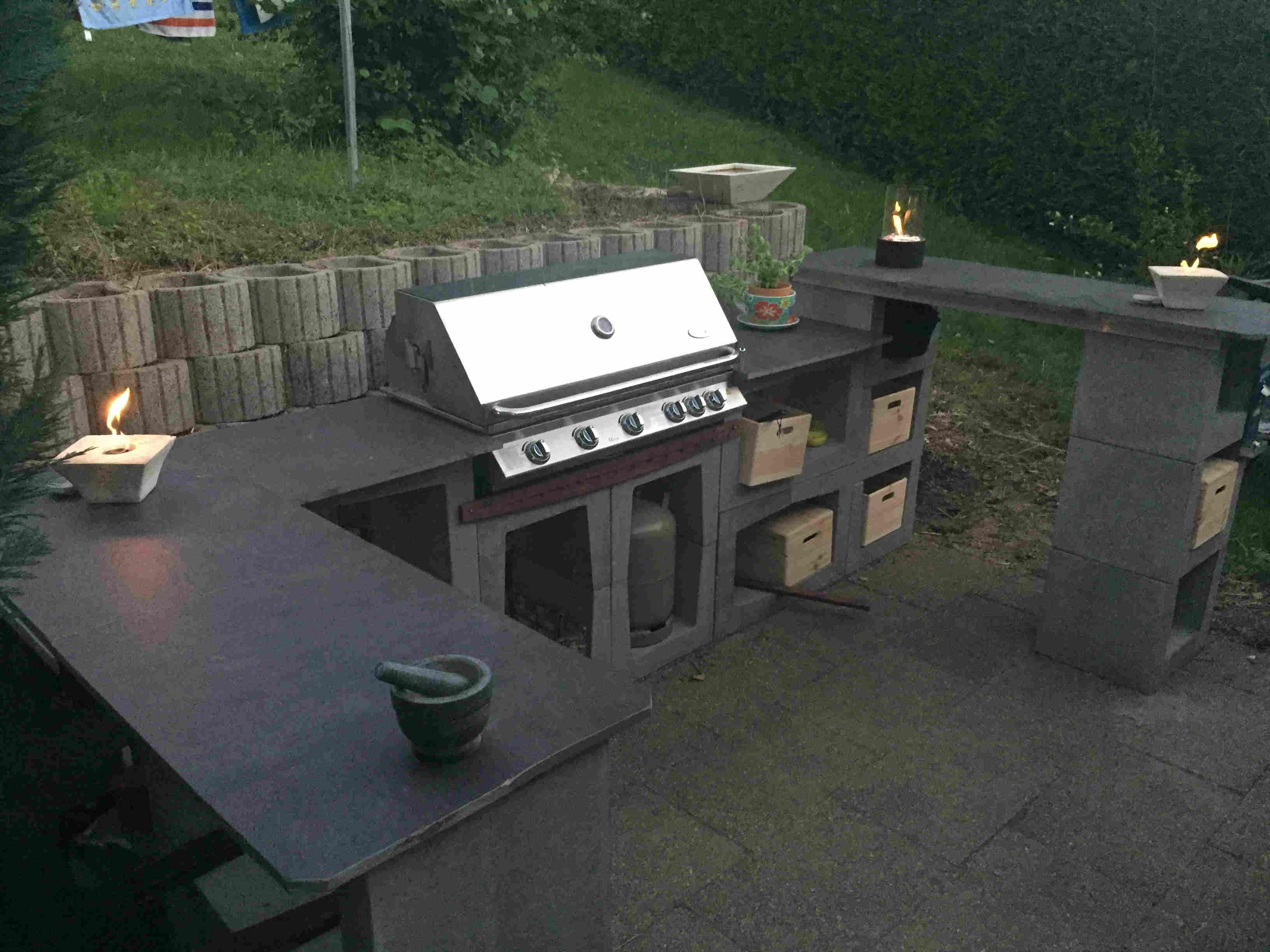 Outdoor - Küche aus U-Steinen | Grillforum und BBQ - www ...