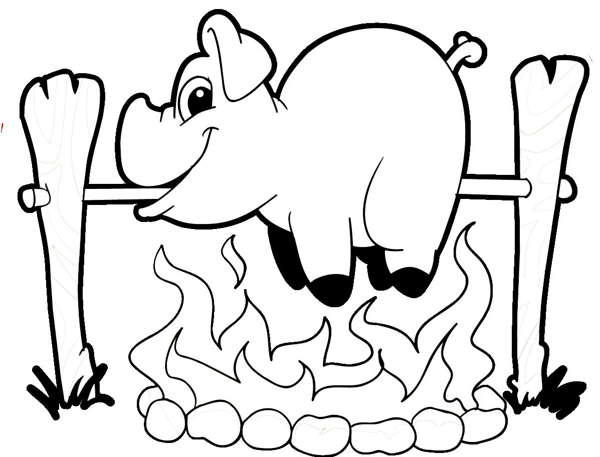 Malvorlage und Ausmalbild Grillsportverein | Grillforum und BBQ ...