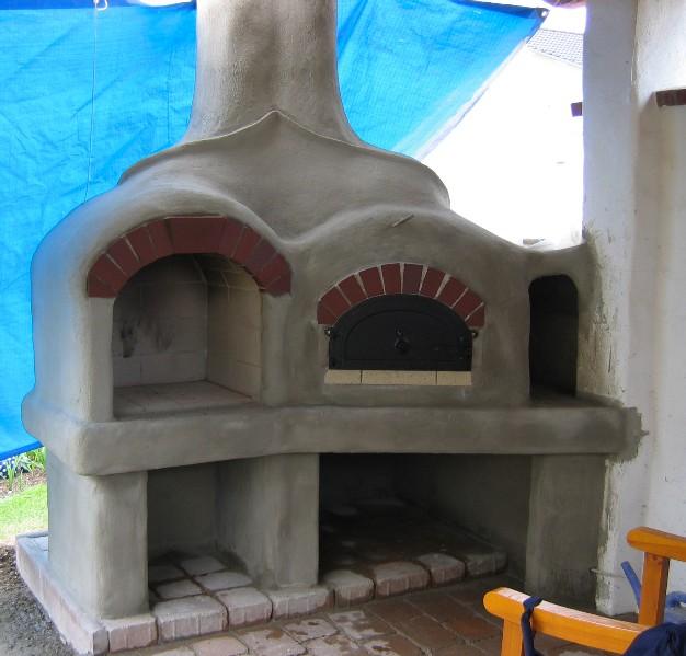 grill und pizzaofen selbst gemauert – greengrill, Garten und bauen