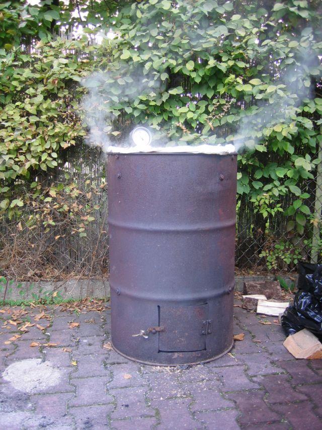 Raucherofen Selber Bauen Fass Backburner Grill Nachrusten