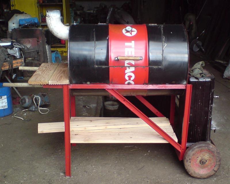 Smoker bauen lfass kleinster mobiler gasgrill for Smoker selber bauen