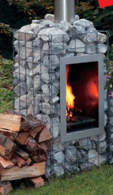 Grill aus gabionen drahtk rben grillforum und bbq - Gartengrill stein ...