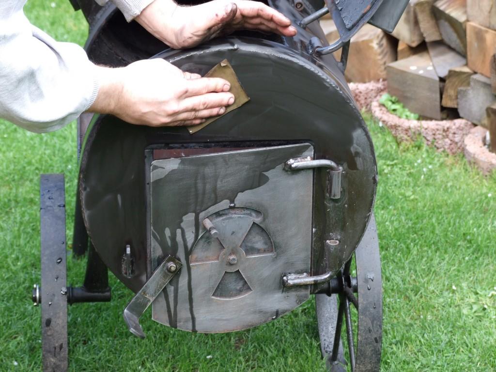 smoker auffrischung mit der ausspufffarbe grillforum. Black Bedroom Furniture Sets. Home Design Ideas