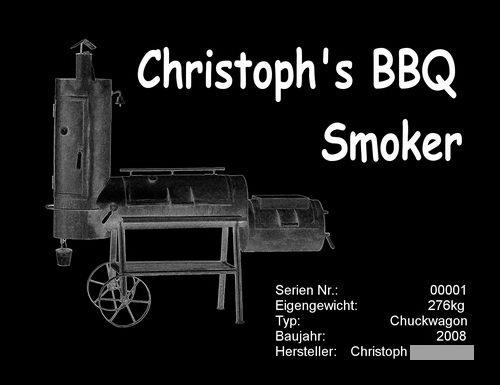 messing typenschild f r smoker basteln grillforum und bbq. Black Bedroom Furniture Sets. Home Design Ideas
